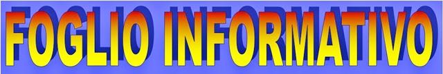 Banner Foglio informativo